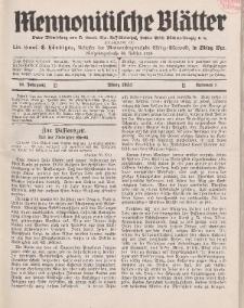 Mennonitische Blätter, März 1933, nr 3, Jahrgang 80.