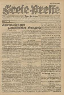 Freie Presse, Nr. 183 Dienstag 7. August 1928 4. Jahrgang
