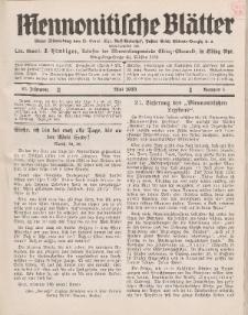 Mennonitische Blätter, Mai 1933, nr 5, Jahrgang 80.