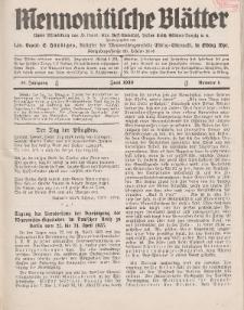 Mennonitische Blätter, Juni 1933, nr 6, Jahrgang 80.