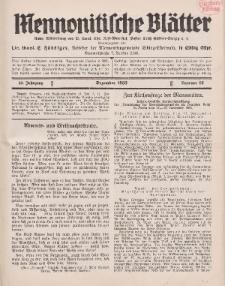 Mennonitische Blätter, Dezember 1933, nr 12, Jahrgang 80.