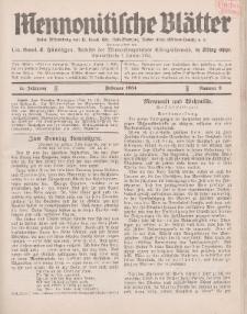 Mennonitische Blätter, Februar 1934, nr 2, Jahrgang 81.