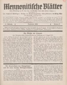 Mennonitische Blätter, September 1934, nr 9, Jahrgang 81.
