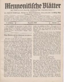 Mennonitische Blätter, Dezember 1934, nr 12, Jahrgang 81.
