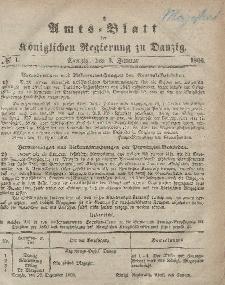 Amts-Blatt der Königlichen Regierung zu Danzig, 3. Januar 1866, Nr. 1