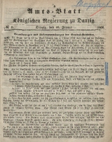 Amts-Blatt der Königlichen Regierung zu Danzig, 10. Januar 1866, Nr. 2