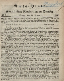 Amts-Blatt der Königlichen Regierung zu Danzig, 24. Januar 1866, Nr. 4