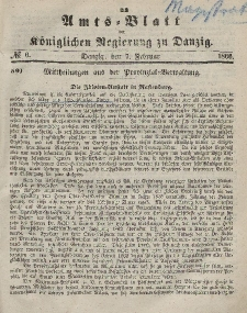 Amts-Blatt der Königlichen Regierung zu Danzig, 7. Februar 1866, Nr. 6