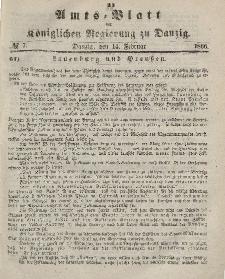 Amts-Blatt der Königlichen Regierung zu Danzig, 14. Februar 1866, Nr. 7