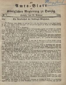 Amts-Blatt der Königlichen Regierung zu Danzig, 21. Februar 1866, Nr. 8