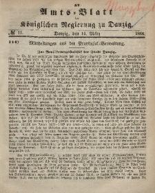 Amts-Blatt der Königlichen Regierung zu Danzig, 14. März 1866, Nr. 11