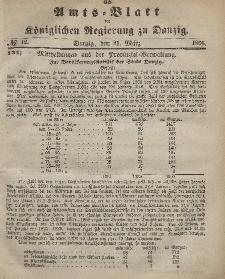 Amts-Blatt der Königlichen Regierung zu Danzig, 21. März 1866, Nr. 12