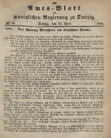 Amts-Blatt der Königlichen Regierung zu Danzig, 18. April 1866, Nr. 16