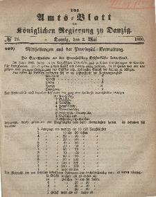 Amts-Blatt der Königlichen Regierung zu Danzig, 2. Mai 1866, Nr. 18