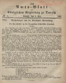 Amts-Blatt der Königlichen Regierung zu Danzig, 9. Mai 1866, Nr. 19