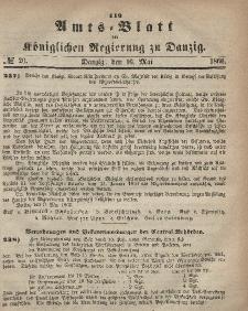 Amts-Blatt der Königlichen Regierung zu Danzig, 16. Mai 1866, Nr. 20