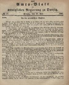 Amts-Blatt der Königlichen Regierung zu Danzig, 23. Mai 1866, Nr. 21