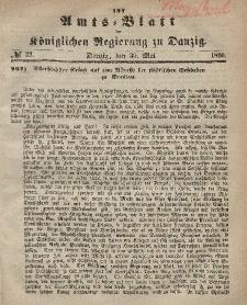 Amts-Blatt der Königlichen Regierung zu Danzig, 30. Mai 1866, Nr. 22