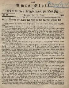 Amts-Blatt der Königlichen Regierung zu Danzig, 13. Juni 1866, Nr. 24