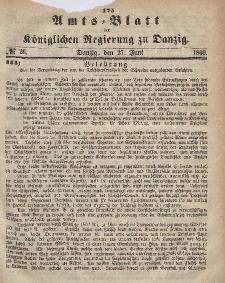 Amts-Blatt der Königlichen Regierung zu Danzig, 27. Juni 1866, Nr. 26