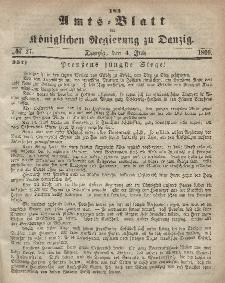 Amts-Blatt der Königlichen Regierung zu Danzig, 4. Juli 1866, Nr. 27