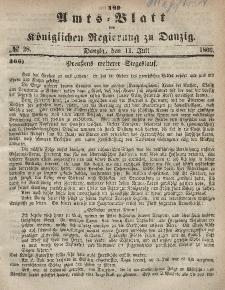 Amts-Blatt der Königlichen Regierung zu Danzig, 11. Juli 1866, Nr. 28