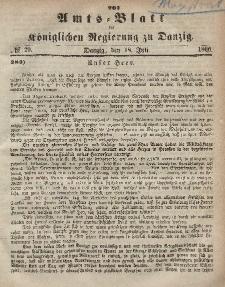 Amts-Blatt der Königlichen Regierung zu Danzig, 18. Juli 1866, Nr. 29
