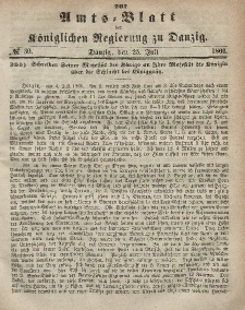 Amts-Blatt der Königlichen Regierung zu Danzig, 25. Juli 1866, Nr. 30