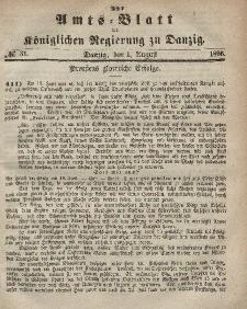 Amts-Blatt der Königlichen Regierung zu Danzig, 1. August 1866, Nr. 31
