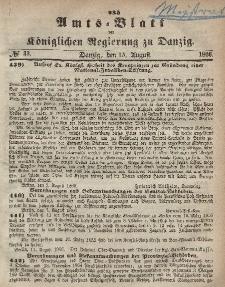 Amts-Blatt der Königlichen Regierung zu Danzig, 15. August 1866, Nr. 33