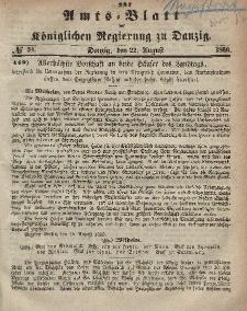 Amts-Blatt der Königlichen Regierung zu Danzig, 22. August 1866, Nr. 34