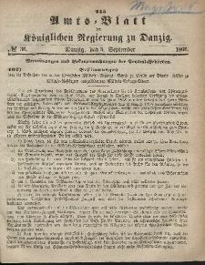 Amts-Blatt der Königlichen Regierung zu Danzig, 5. September 1866, Nr. 36