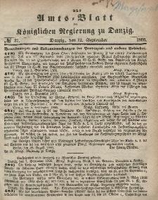 Amts-Blatt der Königlichen Regierung zu Danzig, 12. September 1866, Nr. 37