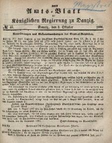 Amts-Blatt der Königlichen Regierung zu Danzig, 3. Oktober 1866, Nr. 40