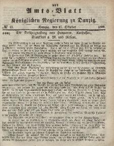 Amts-Blatt der Königlichen Regierung zu Danzig, 17. Oktober 1866, Nr. 42