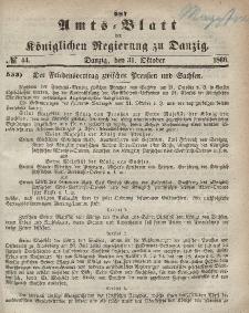 Amts-Blatt der Königlichen Regierung zu Danzig, 31. Oktober 1866, Nr. 44