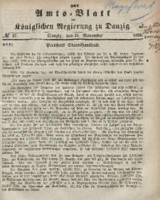 Amts-Blatt der Königlichen Regierung zu Danzig, 21. November 1866, Nr. 47
