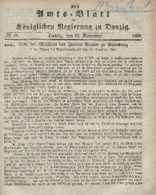Amts-Blatt der Königlichen Regierung zu Danzig, 28. November 1866, Nr. 48