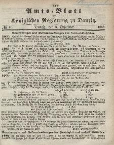 Amts-Blatt der Königlichen Regierung zu Danzig, 5. Dezember 1866, Nr. 49