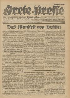 Freie Presse, Nr. 190 Mittwoch 15. August 1928 4. Jahrgang
