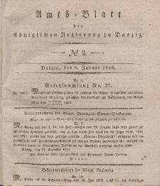 Amts-Blatt der Königlichen Regierung zu Danzig, 8. Januar 1840, Nr. 2