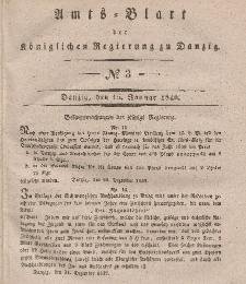 Amts-Blatt der Königlichen Regierung zu Danzig, 15. Januar 1840, Nr. 3