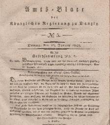 Amts-Blatt der Königlichen Regierung zu Danzig, 29. Januar 1840, Nr. 5