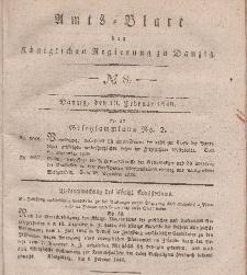 Amts-Blatt der Königlichen Regierung zu Danzig, 19. Februar 1840, Nr. 8