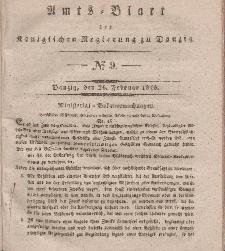 Amts-Blatt der Königlichen Regierung zu Danzig, 26. Februar 1840, Nr. 9