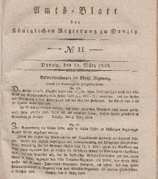 Amts-Blatt der Königlichen Regierung zu Danzig, 11. März 1840, Nr. 11