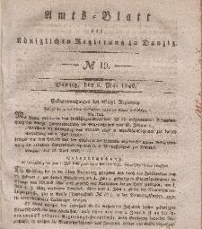 Amts-Blatt der Königlichen Regierung zu Danzig, 6. Mai 1840, Nr. 19