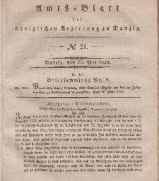 Amts-Blatt der Königlichen Regierung zu Danzig, 20. Mai 1840, Nr. 21