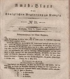 Amts-Blatt der Königlichen Regierung zu Danzig, 3. Juni 1840, Nr. 23