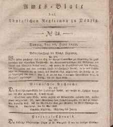 Amts-Blatt der Königlichen Regierung zu Danzig, 10. Juni 1840, Nr. 24